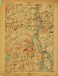 Bucksport, Maine 1902 (1902) USGS Old Topo Map 15x15 Quad