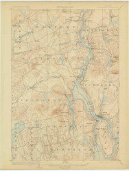 Bucksport, Maine 1902 (1906) USGS Old Topo Map 15x15 Quad
