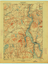 Bucksport, Maine 1902 (1914) USGS Old Topo Map 15x15 Quad