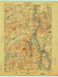 Bucksport, Maine 1902 (1914) USGS Old Topo Map 15x15 Quad