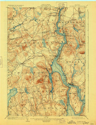 Bucksport, Maine 1902 (1928) USGS Old Topo Map 15x15 Quad