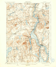 Bucksport, Maine 1902 (1936) USGS Old Topo Map 15x15 Quad