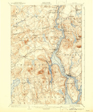 Bucksport, Maine 1902 (1943) USGS Old Topo Map 15x15 Quad