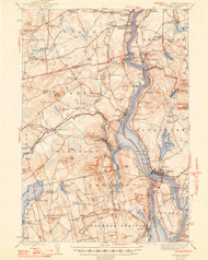 Bucksport, Maine 1948 (1948 a) USGS Old Topo Map 15x15 Quad