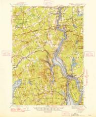 Bucksport, Maine 1948 (1948 b) USGS Old Topo Map 15x15 Quad