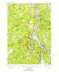 Bucksport, Maine 1955 (1957) USGS Old Topo Map 15x15 Quad