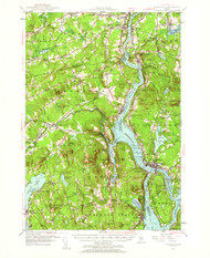 Bucksport, Maine 1955 (1962) USGS Old Topo Map 15x15 Quad