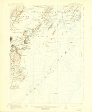 Casco Bay, Maine 1916 (1925 a) USGS Old Topo Map 15x15 Quad