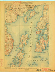 Castine, Maine 1902 (1902) USGS Old Topo Map 15x15 Quad