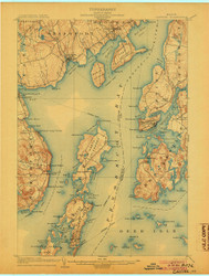 Castine, Maine 1904 (1904 a) USGS Old Topo Map 15x15 Quad