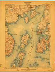 Castine, Maine 1904 (1909) USGS Old Topo Map 15x15 Quad