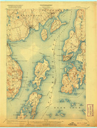 Castine, Maine 1904 (1920) USGS Old Topo Map 15x15 Quad