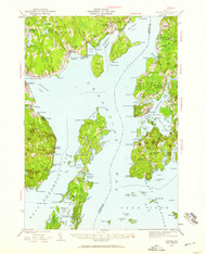 Castine, Maine 1941 (1959) USGS Old Topo Map 15x15 Quad