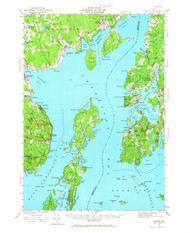 Castine, Maine 1941 (1967) USGS Old Topo Map 15x15 Quad