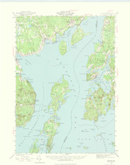 Castine, Maine 1941 (1975) USGS Old Topo Map 15x15 Quad
