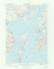 Castine, Maine 1941 (1977) USGS Old Topo Map 15x15 Quad