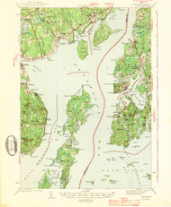 Castine, Maine 1943 (1943 b) USGS Old Topo Map 15x15 Quad