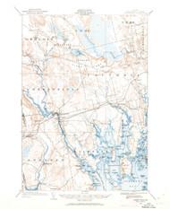Cherryfield, Maine 1902 (1962) USGS Old Topo Map 15x15 Quad