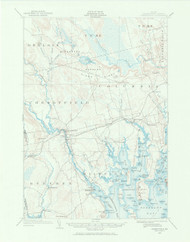 Cherryfield, Maine 1902 (1966) USGS Old Topo Map 15x15 Quad