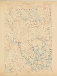Cherryfield, Maine 1904 (1904) USGS Old Topo Map 15x15 Quad