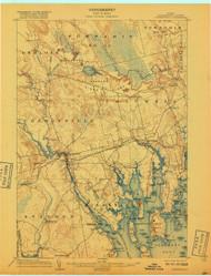 Cherryfield, Maine 1904 (1917) USGS Old Topo Map 15x15 Quad
