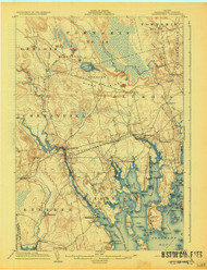 Cherryfield, Maine 1904 (1928) USGS Old Topo Map 15x15 Quad
