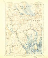 Cherryfield, Maine 1904 (1937) USGS Old Topo Map 15x15 Quad