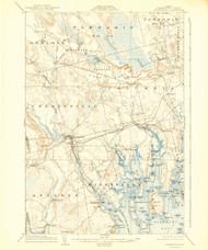 Cherryfield, Maine 1904 (1943) USGS Old Topo Map 15x15 Quad