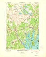 Cherryfield, Maine 1942 (1942) USGS Old Topo Map 15x15 Quad