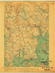 Columbia Falls, Maine 1921 (1921 a) USGS Old Topo Map 15x15 Quad