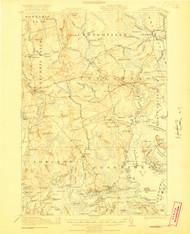 Columbia Falls, Maine 1921 (1921 b) USGS Old Topo Map 15x15 Quad