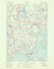 Columbia Falls, Maine 1941 (1955 a) USGS Old Topo Map 15x15 Quad