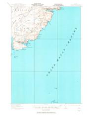 Cutler, Maine 1917 (1965) USGS Old Topo Map 15x15 Quad