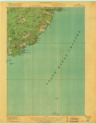 Cutler, Maine 1918 (1918) USGS Old Topo Map 15x15 Quad