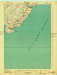 Cutler, Maine 1918 (1932) USGS Old Topo Map 15x15 Quad