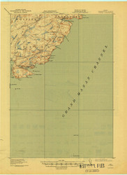 Cutler, Maine 1918 (1944) USGS Old Topo Map 15x15 Quad