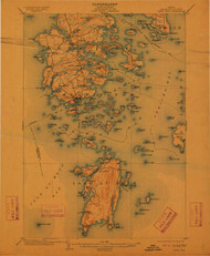 DeerIsle, Maine 1904 (1912) USGS Old Topo Map 15x15 Quad