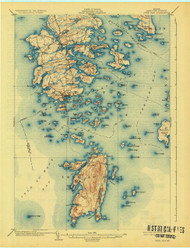 DeerIsle, Maine 1904 (1926) USGS Old Topo Map 15x15 Quad