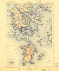 DeerIsle, Maine 1904 (1940) USGS Old Topo Map 15x15 Quad