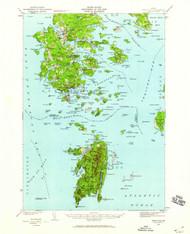 DeerIsle, Maine 1942 (1959) USGS Old Topo Map 15x15 Quad