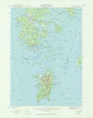 DeerIsle, Maine 1942 (1971) USGS Old Topo Map 15x15 Quad