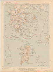 DeerIsle, Maine 1944 (1944 a) USGS Old Topo Map 15x15 Quad