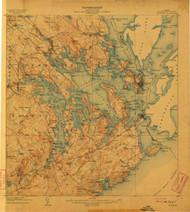 Eastport, Maine 1908 (1908) USGS Old Topo Map 15x15 Quad