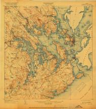 Eastport, Maine 1908 (1918) USGS Old Topo Map 15x15 Quad