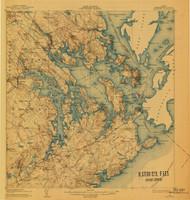 Eastport, Maine 1908 (1940) USGS Old Topo Map 15x15 Quad