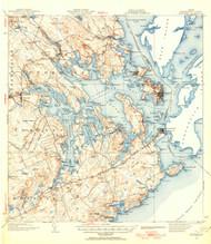 Eastport, Maine 1943 (1955 b) USGS Old Topo Map 15x15 Quad
