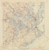 Eastport, Maine 1945 (1945 a) USGS Old Topo Map 15x15 Quad
