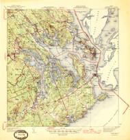 Eastport, Maine 1945 (1945 b) USGS Old Topo Map 15x15 Quad