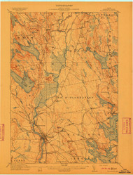 Ellsworth, Maine 1911 (1911) USGS Old Topo Map 15x15 Quad