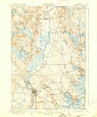 Ellsworth, Maine 1911 (1936) USGS Old Topo Map 15x15 Quad